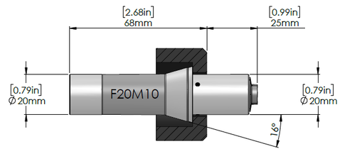 Masa Tool Micorconic F20M10 drawing
